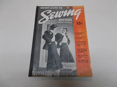 Sewing Success Short Cuts Book Fully Illustrated 1940 By Du Barry Patterns