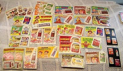 TOPPS 1969 Wacky Ads Lot 23 Cards With 9 Extra Duplicate Cards Sticky Punchouts