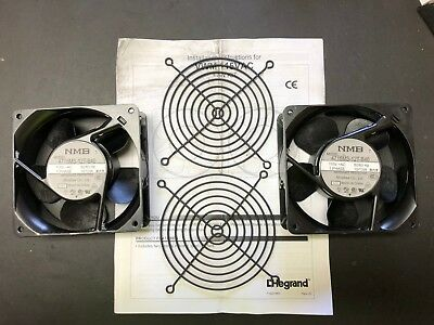 Lot of 2 - NMB 4715MS-12T-B40 Cooling Fans 115V 50/60 Hz 1 Phase 15/13 W
