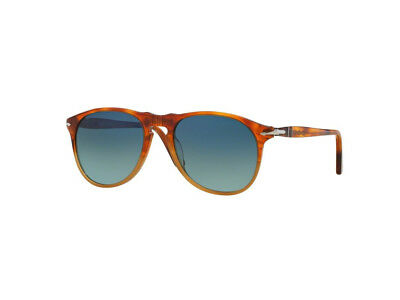 7defb22a3719a PERSOL 3059-S 1060 56 Sunglasses Tortoise Red Frame Blue Lenses 54mm ...