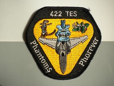 """422nd Test and Evaluation Squadron """"PHANTOMS FOREVER"""" USAF Patch"""