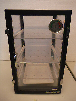 Sanplatec Dry Desiccator Non-powered Drykeeper Hygrometer w/ Desiccant tray