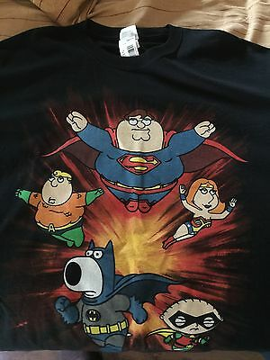 The Family Guy Super Crew as DC Super-Heroes T-Shirt XL
