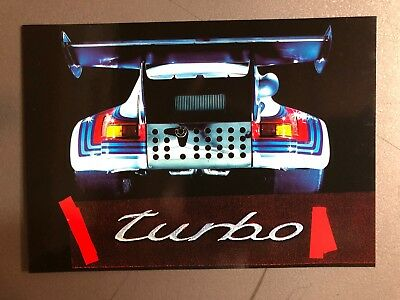 1974 Porsche 911 RSR Turbo 2.1 Factory issued Post Card Postcard Collector Card