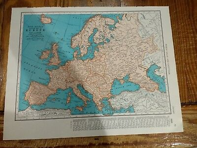 1942 Map of Europe - Map of The British Isles On Reverse - Rockall Bank Inset
