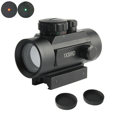 Tactical 1x30RD Red Green Dot Sight Scope Telescope Optical 11/20mm Tackle Kit