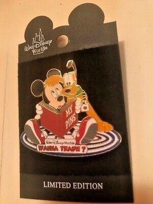 DISNEY Wanna Trade? Mickey Mouse & Pluto Pin - LIMITED EDITION