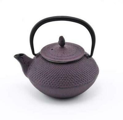 Purple Hobnail Japanese Tetsubin Cast Iron Teapot with Stainless Steel Infuser 1