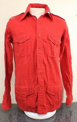 1977 NAT WISE of London Sunset Strip Buttonup  red see measurements