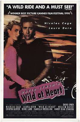 Wild at Heart 1990 27x40 Orig Movie Poster FFF-71100 Rolled Nicolas Cage