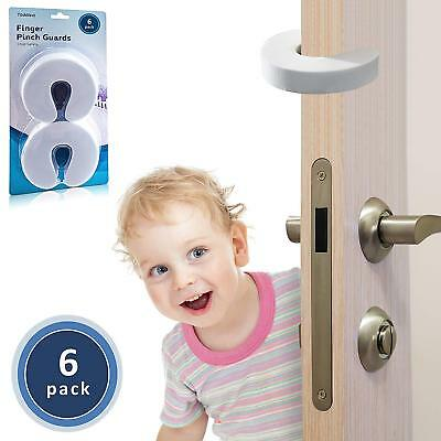 TODDLINO Finger Pinch Guard 6Pack Premium Quality Durable Baby Proofing Door Out