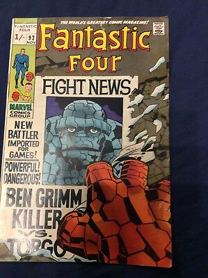 Marvel Comics Silver-Age Fantastic Four 92 - Ben Grimm Killer!