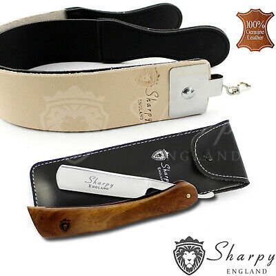 Sharpy - Straight Cut Throat Shaving Razor Set With Strop Strap Gift Set For Him