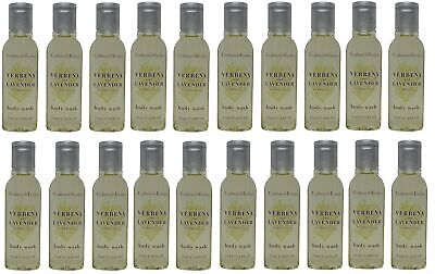 Crabtree & Evelyn Verbena & Lavender Shower Gel Lot of 20 each 0.8oz Bottles.