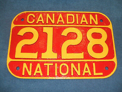 Canadian National 2-8-0 #2128 Cast Iron Steam Locomotive Number Plate