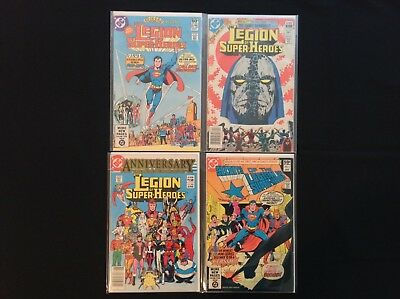 LEGION OF SUPER-HEROES Lot of 4 DC Comic Books - #280 294 300 & Secrets #1!