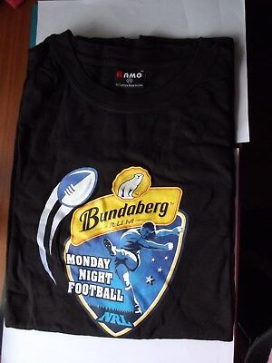 "Collectable - ""Bundy Rum"" - ""T"" Shirt - *Monday Night Footy* NRL- **RARE ITEM**"