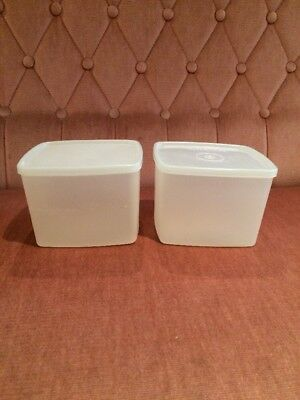 Tupperware Square Round Containers - set of 2