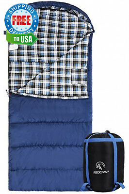 REDCAMP Cotton Flannel Sleeping Bag Adults, 23/32F Comfortable, Envelope...