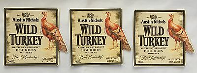 Wild Turkey  Bourbon Whiskey Stickers X 3