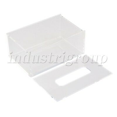 196x125x84mm Transparent Acrylic Decor Papper Tissue Box Case Cover Holder