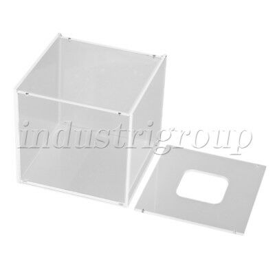 125x125x120mm Transparent  Acrylic Decor Papper Tissue Box Case Cover Holder