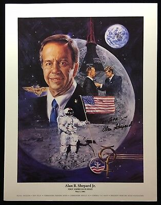 Alan Shepard  Pre-Printed Signature / Auto Penned 8.5 X 11 Color Litho To: April