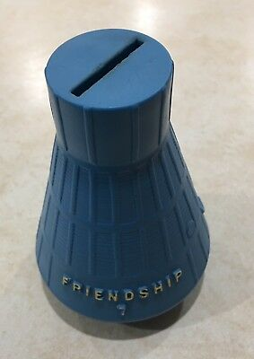 Project Mercury * Friendship 7 * Capsule 1962 Era Promo Blue Plastic Coin Bank