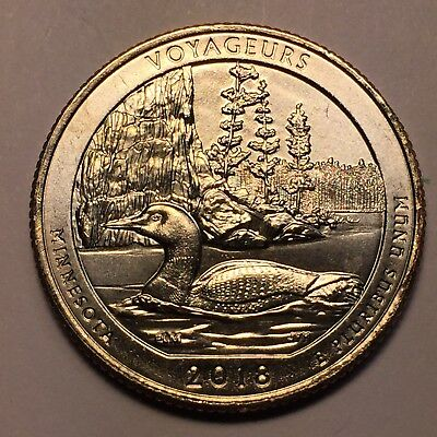 2018 P Minnesota Voyageurs National State Park Quarter USA The Beautiful