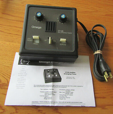 Vintage Omega CT-20 Timer for Darkroom Enlarger, works, early 1980s