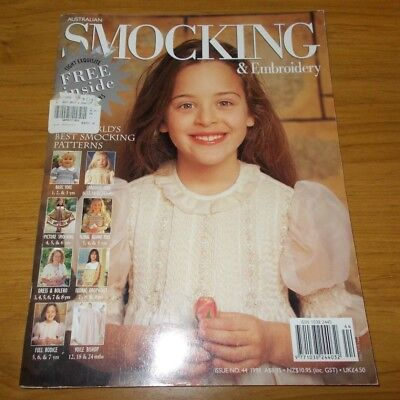 Australian Smocking & Embroidery Magazine Issue #44~Pattern Sheets Attached~1998