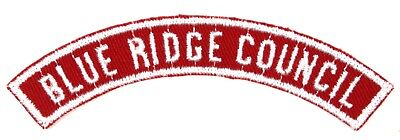 Blue Ridge Council Red and White Shoulder Patch Half Strip