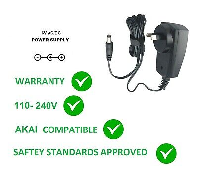 6V Ac/Dc Power Supply Adapter Suits For Akai Mpx8 Mpx16 Mpk225 5.8V Type