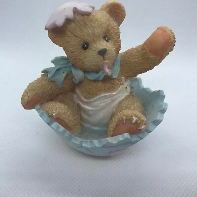 Cherished Teddies Bunny 103802 Just In Time For Spring Baby Bear in Cracked Egg