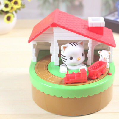 Stealing Coin Cat Mouse Penny Cent Piggy Bank Saving Box Money Box Kid Gift