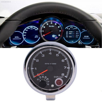 12V Universal Car Auto Vehicle Tachometer Tacho Gauge 0-8000 RPM Shockproof