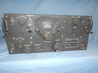 Signal Corps U.S Army Radio Aircraft Receiver BC-348-Q WWII Converted/ Restored!