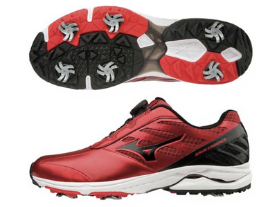 8268328d607e Mizuno Japan Golf Shoes WAVE CADENCE Boa EEE Wide soft Spike 51GM1870 Red