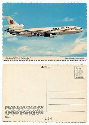National Airlines Dc-10 Starship Picture Postcard ~ Dexter Press, West Nyack, Ny