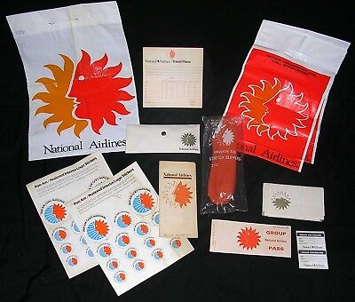 COLLECTION of NATIONAL AIRLINES ADVERTISING, PROMOTIONAL & AIRPLANE MEMORABILIA