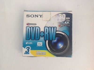 SONY DVD-RW 1.4GB 8cm 30min Rewritable Mini DVD Discs for Camcorders 3 Pack