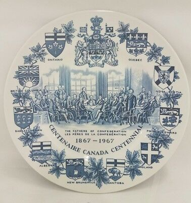 Vintage Canada Centennial 1867-1967 Plate  Woods & Sons Ironstone England