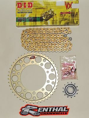DID Gold Race 520 Pitch Chain & Renthal Sprocket Kit Yamaha YZF R6 2006-2018