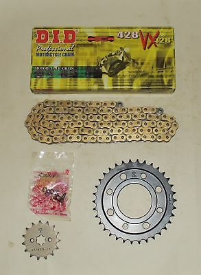 DID Gold VX X-Ring Heavy Duty 428 Chain & JT Sprocket Kit For Honda MSX125 Grom