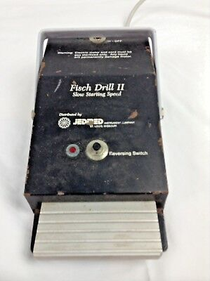 Jedmed Fisch Drill  II Slow Starting Speed Foot Pedal Switch w/ Reverse