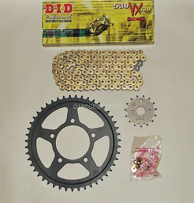 DID Gold X-Ring Chain & JT Black Sprocket Kit For Suzuki GSF600 Bandit 95-99 MK1
