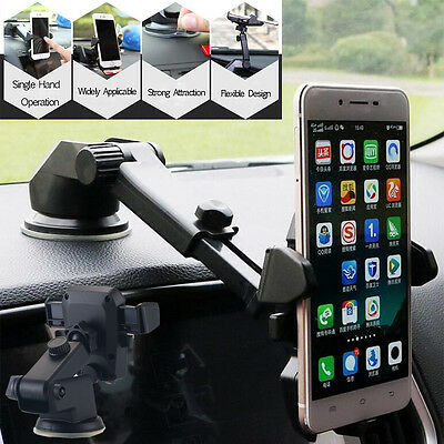 360° Mount Holder Car Windshield Stand For Mobile Cell Phone GPS iPhone Samsung#
