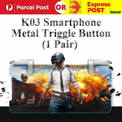 Newest For PUBG Fortnite Mobile Game Shooter Metal Button Trigger Fire L1R1