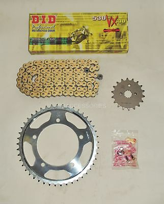 DID Gold X-Ring Chain And JT Sprocket Kit Suzuki GSX1250 FA GSF1250 Bandit 10-16