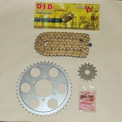 DID Gold X-Ring Chain And JT Sprockets For Suzuki GSF1200 Bandit 95-05